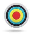 colour round darts target aim isolated on white vector image