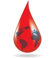 Concept of blood donation vector image