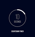 countdown timer digital counter clock timer vector image vector image