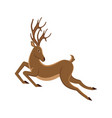 cute deer cartoon running reindeer moving vector image vector image