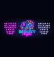 dj party neon sign night party design vector image vector image
