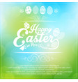 easter card on blurred background vector image vector image