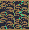 elegant feather leaves seamless pattern vector image