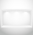 empty display window with spot lights vector image