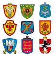 Family dynasty medieval royal coat of arms on vector image vector image