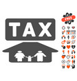family tax pressure icon with dating bonus vector image vector image