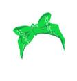 female hair bandana or ribbon with bow cartoon vector image vector image