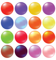 glass spheres vector image vector image