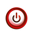 glass transparent effect power start button on vector image vector image