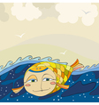 Gold Fish Sea vector image
