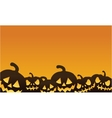 Halloween pumpkin orange backgrounds vector image vector image