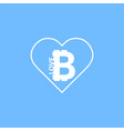 i love bitcoin icon vector image