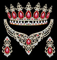 Jewelry set diadem necklace and earrings with