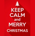 Keep Calm and Merry Christmas background Card or vector image