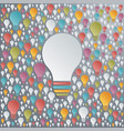 light bulbs creativity and cooperation concept vector image