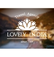 Lovely India logo template vector image vector image