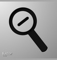 magnifying glass icon no meshes only gradients vector image vector image