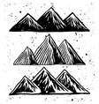 mountains hand drawn rough objects or elements vector image