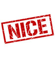 nice red square stamp vector image vector image