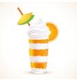 Orange sliced dessert cocktail vector image vector image