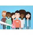 People Group Taking Selfie vector image vector image