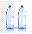 plastic bottle fresh template bluer vector image vector image
