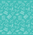 plumbing service seamless pattern with flat vector image vector image