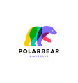 polar bear colorful logo icon vector image vector image