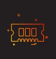 ram icon design vector image