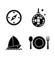 recreation simple related icons vector image vector image