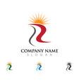 river logo template vector image