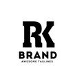 rk letter monogram strong and bold logo vector image vector image