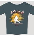 rock show tee shirt vector image vector image