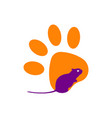rodent icon isolated on white background vector image vector image