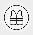 safety vest icon editable thin line vector image vector image
