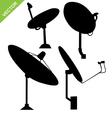 Satellite dish silhouette vector image vector image