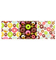seamless pattern with donuts vector image vector image