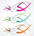 set colorful smooth futuristic wave layouts vector image