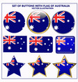 set of banners with flag of australia vector image