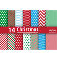 Set of Christmas patterns and seamless background vector image vector image