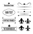 Set of frames deviders and borders - fleur de lis vector image
