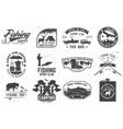 set outdoor adventure patches with vector image vector image