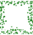 st patrick s day frame isolated on white vector image
