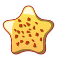 star biscuit icon cartoon style vector image vector image