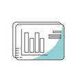 statistical graphic vector image vector image