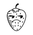 strawberry cartoon smiley fruit vector image vector image