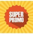 super promo design vector image vector image