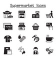 supermarket shopping center shopping mall icon vector image vector image