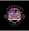 surfing summer logo design element can be used vector image vector image