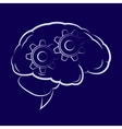 Symbol of the cogwheels inside human brain vector image